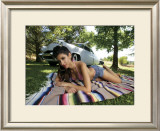 50's Pin-Up Girl Framed Giclee Print by David Perry