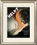 Helpt Framed Giclee Print by Jan Lavies