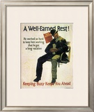 A Well-Earned Rest, 1930 Print by Robert Beebe