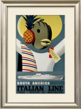 Italian Line Framed Giclee Print by  Sassi
