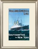 Holland America Line Framed Giclee Print by G.h Tavis
