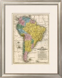 Map of South America, c.1839 Framed Giclee Print by Samuel Augustus Mitchell