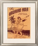 Hawaiian Hula Dance Lessons Framed Giclee Print