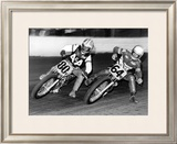 Flat Track Framed Giclee Print by Dan Mahoney