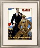Bach, Fur den Wintersport Framed Giclee Print by Julius Ussy Engelhard
