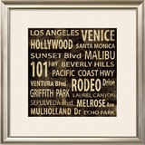 Los Angeles Print by Luke Wilson
