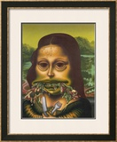 Mona Lisa Throws Up Macaroni, c.1992 Poster by Peter Saul