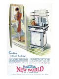 Advertisement for a Gas Cooker Produced by the 'New World' Company, 1928 Giclee Print