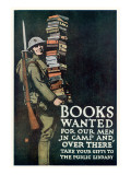Books Wanted for Our Men In Camp and Over There Giclee Print by Charles Buckles Falls