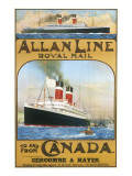 Allan Line to Canada Poster Giclee Print