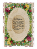 A Victorian Birthday Card with a Poem Giclee Print