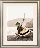 Pua with Sticks, Hula Dancer Print by Alan Houghton