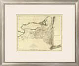 State of New York, c.1795 Framed Giclee Print by Mathew Carey