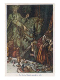 Arthur and Green Knight Giclee Print