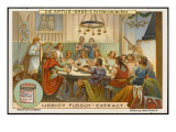 Arthur and His Elite Knights Dine at the Round Table Giclee Print