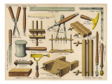Bookbinding Tools 1875 Giclee Print