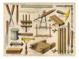 Bookbinding Tools 1875 Giclee Print