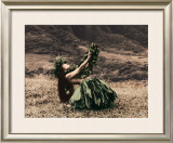 Offering to Pele, Hula Girl Print by Alan Houghton