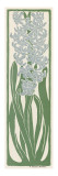 A Stylized, Art Nouveau Depiction of a Hyacinth Within a Rectangular Border Giclee Print