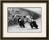 Flat Track Framed Giclee Print by Dan Mahoney