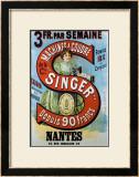Singer Framed Giclee Print