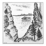 An Unnamed Couple See a UFO and Ten Figures on a Canadian Lake Giclee Print