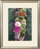 Floating Market Print by John Banagan
