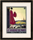 Le Sourire de Paris Framed Giclee Print by Bernard Becan