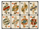 An Assortment of Playing Cards: Kings, Queens and Knaves Giclee Print