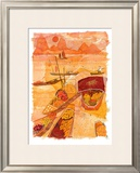 Sampans at Sunset Prints by Liz Myhill