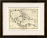 Chart of the West Indies, c.1795 Framed Giclee Print by Mathew Carey