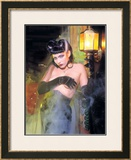 Pin-Up Girl: Munsters Vampiress Framed Giclee Print by David Perry