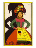 A Woman in Traditional Costume from Central Portugal - Tomar Giclee Print