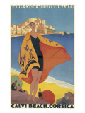 Calvi Beach, Corsica Giclee Print