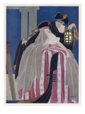 A Venetian Couple in Carnival Costume Giclee Print
