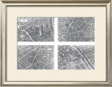 Paris Plans Prints by Louis Bretez