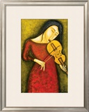 Celeste au Violon Prints by Guy Mourand