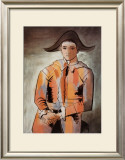Harlequin with Folded Hands, c.1923 Prints by Pablo Picasso