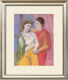 Masterworks of Art - The Lovers Poster by Pablo Picasso
