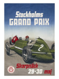 A Poster for the Stockholm Grand Prix, 29Th-30th May 1948 Giclee Print