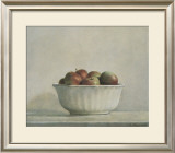 Mcintosh Apples in a White Bowl, 1981 Print by Elsie Manville