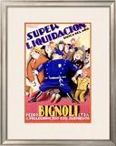 Bignoli Super Liquidacion Framed Giclee Print by Achille Luciano Mauzan