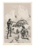 James Clark Ross Serving with His Uncle Kills a Musk Ox, Giclee Print