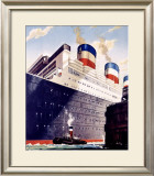 To Europe, United States Lines, Leviathan Framed Giclee Print