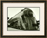 Deco Train Engine Framed Giclee Print