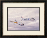 USN Navy VF24 F8 Crusader Jet Framed Giclee Print by Bill Northup