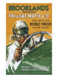 Brooklands Race Poster Giclee Print