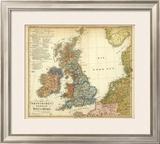 Die Britischen Inseln: Volker und Sprachen, c.1847 Framed Giclee Print by Heinrich Berghaus