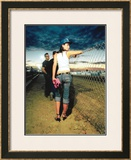 Pin-Up Girl: Raceway and Heels Framed Giclee Print by David Perry