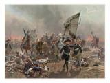 Battle of Zorndorf Giclee Print